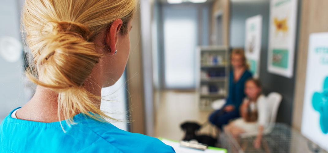 poczekalnia w lecznicy weterynaryjnej