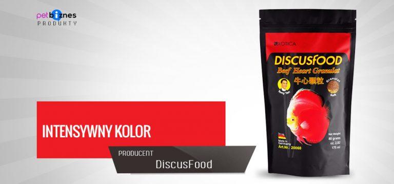 Pokarm dla dyskowców zwiększający intensywność koloru