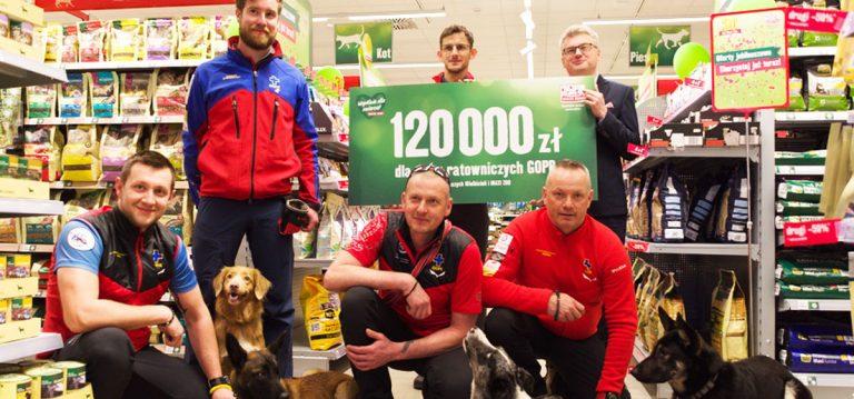 Akcja charytatywna na rzecz psów ratowniczych GOPR – zebrano 120 000 złotych!